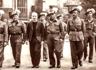 Assyrian Levy officers on London streets.