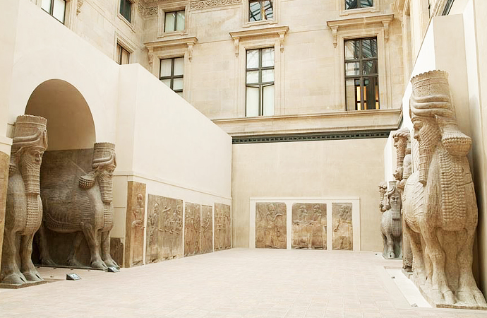 Assyrian Hall at the Louvre.