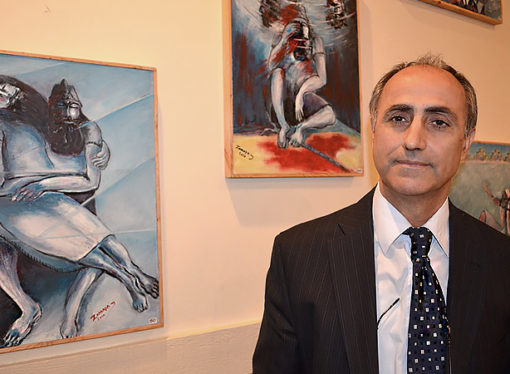 The Assyrian painter, sculptor Dankha Zomaya Sahda.